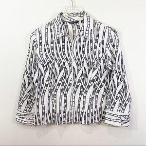 SAMUEL DONG Cutout Jacket Blazer Zip Up Top